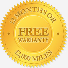 Free 12 Month or 12,000 Warranty